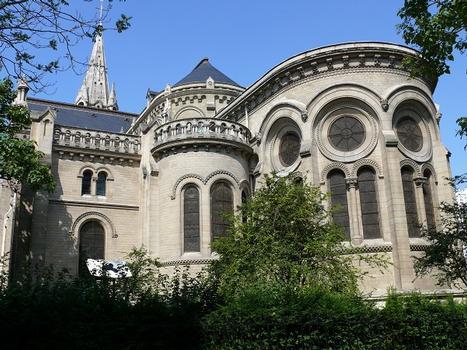 Paris 20ème arrondissement - Eglise Notre-Dame de la Croix - Chevet