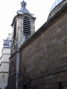 Paris - 2 ème arrondissement - Eglise Notre-Dame-de-Bonne-Nouvelle - Le chevet de l'église avec la tour-clocher construite au 17 ème siècle