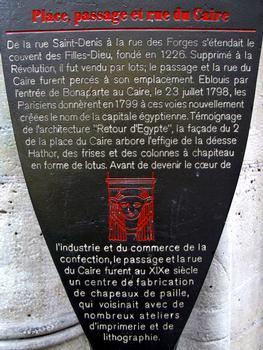 Paris - 2 place du Caire & passage du CaireInformationstafel