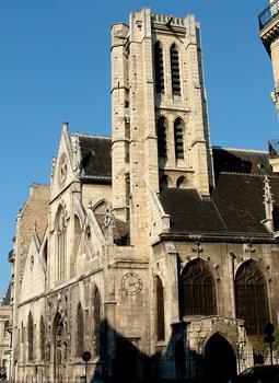 Paris - Eglise Saint-Nicolas-des-Champs (254, rue Saint-Martin) - Façade et clocher