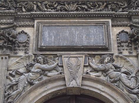 Eglise Saint-Martin-des-Champs - Portail latéral Sud - Détail