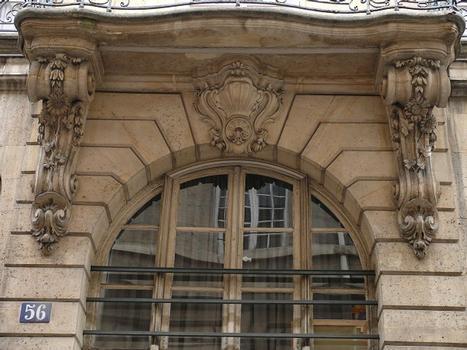 Paris 3 ème arrondissement - Archives nationales - Hôtel de Fontenay - Maison Claustrier sur la rue des Francs-Bourgeois construit par Mansart de Sagonne en 1751