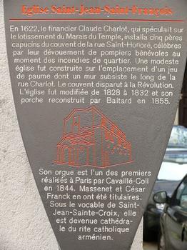 Paris 3 ème arrondissement - Cathédrale Sainte-Croix-Saint-Jean-des-Arméniens - Panneau d'information