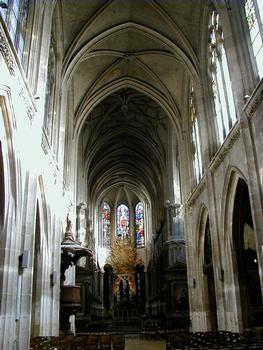Paris - Eglise Saint-Merri - Vaisseau central vu du portail