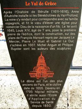 Hôpital du Val-de-Grâce - Panneau d'information