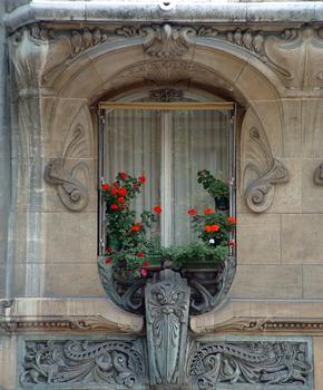 Paris - Immeuble Lavirotte - Façade rue Rapp - Détail
