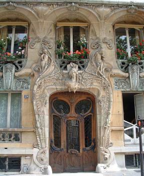 Paris - Immeuble Lavirotte - Façade rue Rapp - Porte