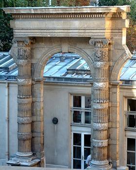 Palais des Tuileries, Paris. Remains on the grounds of the second court of the Hôtel de Fleury