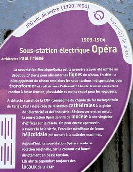 Paris 9ème arrondissement - Sous-station électrique Opéra