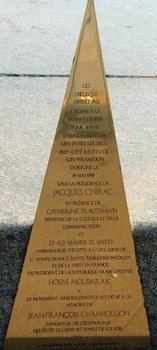 Place de la Concorde, ParisObélisque - Plaque commémorative du pyramidion: Place de la Concorde, Paris Obélisque - Plaque commémorative du pyramidion