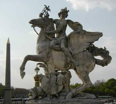Place de la Concorde, ParisStatue du jardin des Tuileries de 1719 et Obélisque: Place de la Concorde, Paris Statue du jardin des Tuileries de 1719 et Obélisque