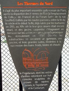 Thermes de Cluny - Panneau d'information
