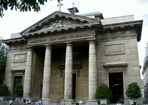 Eglise Saint-Philippe-du-Roule, Paris.Façade
