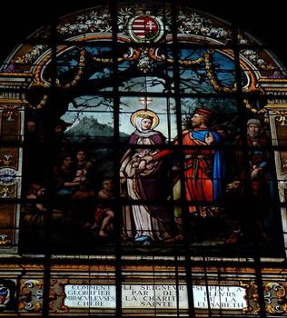 Eglise Sainte-Elisabeth, Paris.Vitrail 19ème siècle