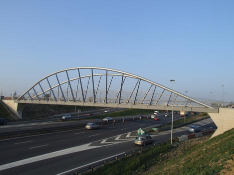 Passerelle de Villepinte sur l'A104