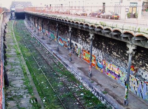 Petite ceinture de Paris - Gare de l'avenue de Saint-Ouen