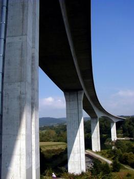 Viaduc de Poncin (A40) sur l'Ain. Ensemble