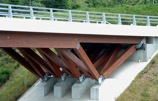 Pont d'accès à l'aire de Chavanon - Appui sur culée