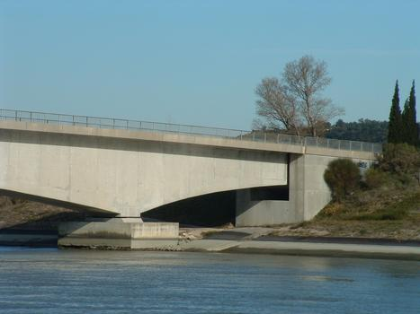 Pont de Tricastin sur le canal de Donzère - Travée et culée d'équilibrage