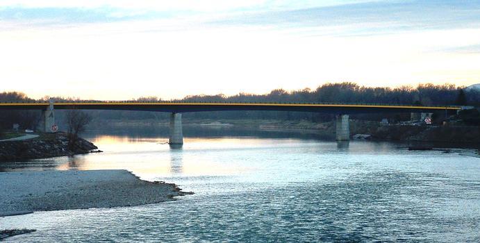 Pont-Saint-Esprit - Pont sur le Rhône de la déviation de Pont-Saint-Esprit vu de l'amont