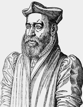 Philibert De l'Orme (ou Delorme) - Portrait publié dans les éditions posthumes des traités de De L'Orme