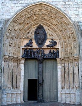 Provins - Eglise Saint-Ayoul - Façade occidentale - Portail central