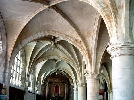 Provins - Eglise Saint-Ayoul - Voûtes du bas-côté gauche