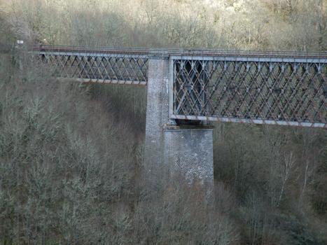 Viaduc des Fades - La travée supplémentaire et la pile culée