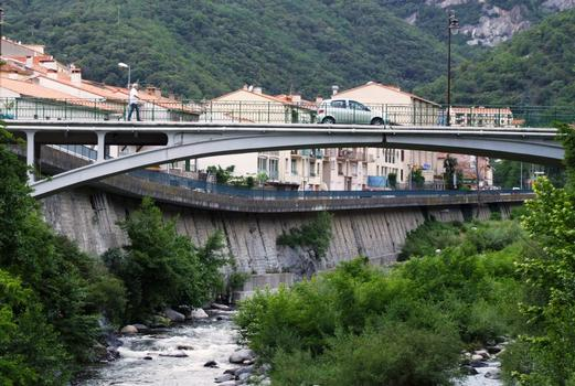 Pont d'Amélie-les-Bains - Vu de l'aval