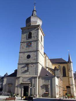 Remiremont - Eglise Saint-Pierre - Clocher-porche occidental
