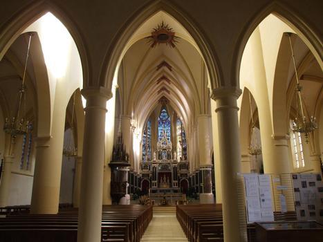 Remiremont - Ancienne abbatiale Saint-Pierre - Nef