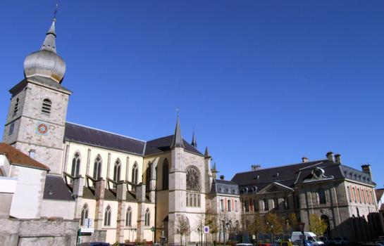 Remiremont - Ancienne abbatiale Saint-Pierre et le Palais abbatial