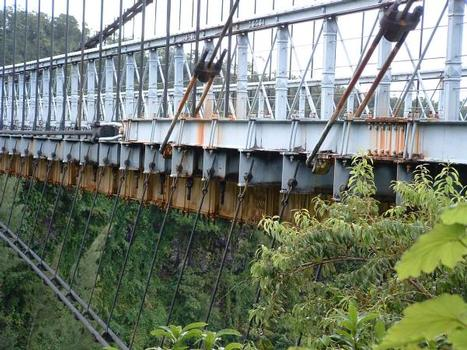 Pont suspendu de la Rivière de l'Est, La Réunion.