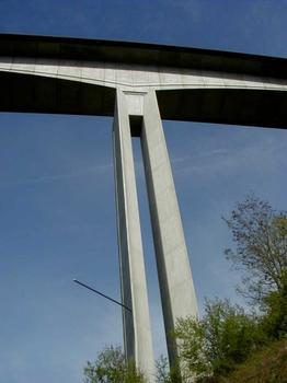 Roquebillère-Viadukt bei Cahors. Pfeiler.