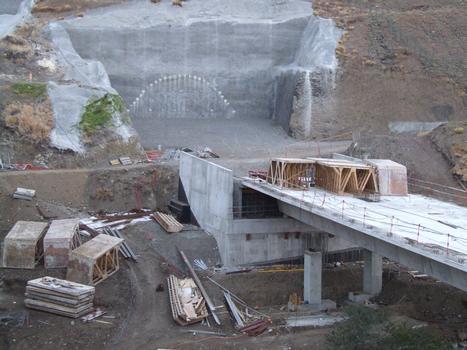 Tunnel du Cap-la-Houssaye - Entrée côté Nord à l'extrémité du viaduc de Fleurimont côté montagne