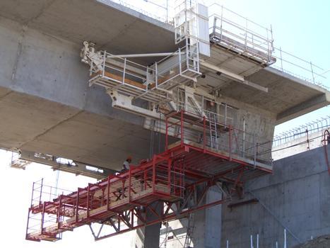 Viaduc de Fleurimont - Equipage mobile avant démontage