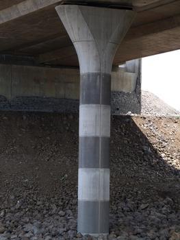 Viaduc de la ravine de l'Hermitage - Une pile