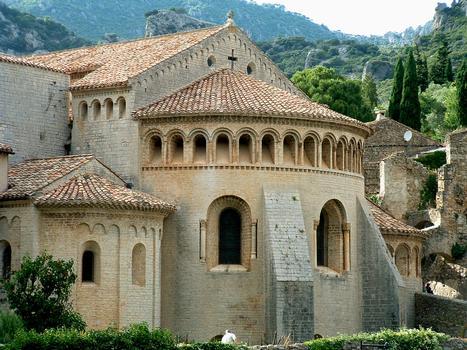 Saint-Guilhem-le-Désert - Abbaye de Gellone - Abbatiale - Chevet