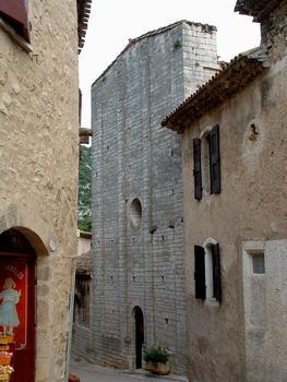 Saint-Guilhem-le-Désert - Abbaye de Gellone - Abbatiale - Façade du bras gauche du transept