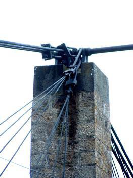 Pont suspendu de Saint-IlpizeAncrages au droit du pylône