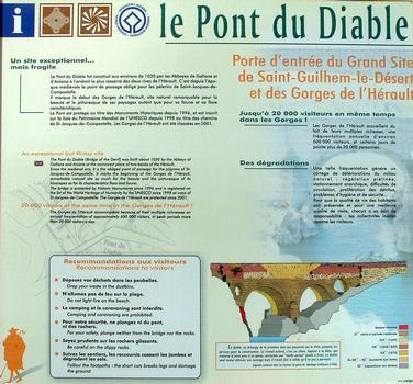 Pont du Diable, Saint-Jean-de-FosPanneau d'information