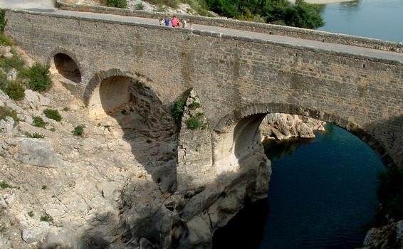 Saint-Jean-de-Fos - Pont du Diable vu de l'amont - Elargissement