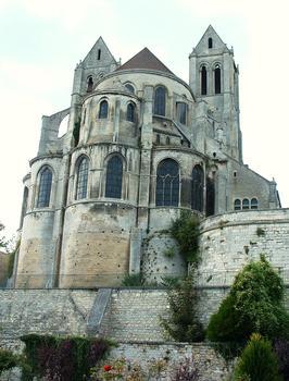 Saint-Leu-d'Esserent - Ancienne abbatiale Saint-Leu - Chevet dominant la vallée de l'Oise