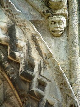 Saint-Leu-d'Esserent - Ancienne abbatiale Saint-Leu - Façade - Détail