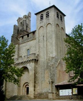Abbaye de Saint-Avit-Sénieur.Façade occidentale de l'église