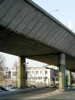 Autoroute A13.Viaduc de Saint-Cloud - Partie à terre