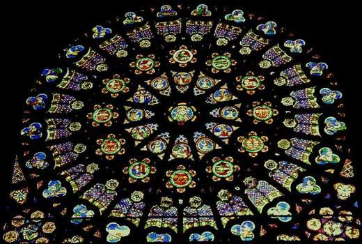 Abteikirche Saint-Denis. Rosette am südlichen Querschiff