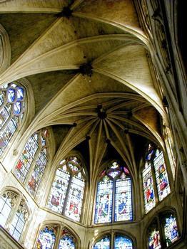 Saint Séverin Church.Choir vaulting