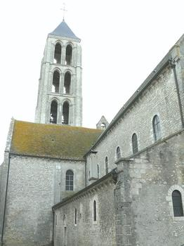 Château-Landon - Église Notre-Dame-de-l'Assomption - Murs nord de la nef et la tour