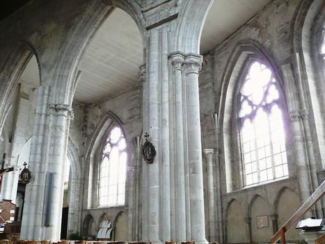 Château-Landon - Église Notre-Dame-de-l'Assomption - Nef - Bas-côté sud gothique